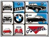 BMW Vintage Cars Magneet Set