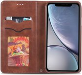Apple iPhone XR Retro Portemonnee Hoesje Coffee