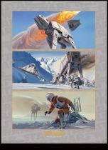 Merchandising STAR WARS - Collector Print HQ 32X42 - Battle on Hoth