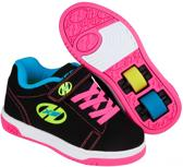 Heelys Rolschoenen Dual Up Neon - Sneakers - Kinderen - Maat 30 - Meisjes - Zwart/Neon