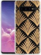 Galaxy S10 Hoesje Art Deco Gold