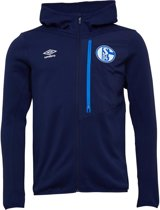 UMBRO SCHALKE 04 PRO FLEECE TRAININGSJACK 2018-2019 - KLEUR BLAUW - MAAT XL