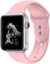 Shop4 - Apple Watch 5/4 44mm Bandje - Small Siliconen Roze