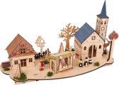 """Houten kerst stad verlicht """"Oude binnenstad"""""""