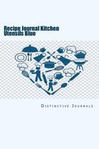 Recipe Journal Kitchen Utensils Blue