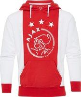 Ajax hooded sweater kinderen - wit/rood - maat 140