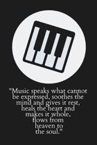 Music Speaks What Cannot Be Expressed