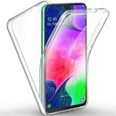 Ntech Samsung Galaxy A50 Dual TPU Case hoesje 360° Cover 2 in 1 Case ( Voor en Achter) Transparant