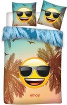 Emoji Sunglasses - Dekbedovertrek - Eenpersoons - 140 x 200 cm - Multi