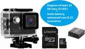 Lipa SJ8000 action camera 4K  en 24 MP - Wifi phone remote - Met SD 16 GB