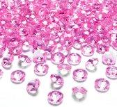 Tafel diamant donker roze 12mm