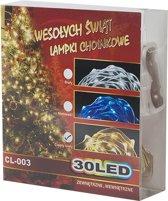 Premium Feest- Kerstverlichting 30 LED - Warm Wit