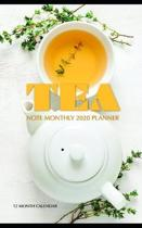 Tea Note Monthly 2020 Planner 12 Month Calendar