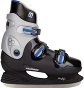Nijdam 0089 Ijshockeyschaats - Hardboot - Maat 46 - Zwart/Blauw