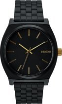 Nixon A0451041 Time Teller matte black / gold - Horloge - 37mm - Zwart