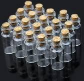 Kleine glazen flesjes - 20 Stuks