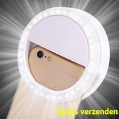 Saizi Selfie Ring Light Clip / Led Lamp / 3 Standen / Oplaadbaar / Flashlight / Ring Lamp / Verlichting in Wit