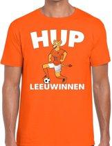 Nederland supporter t-shirt dameselftal Hup Leeuwinnen oranje heren - landen kleding L