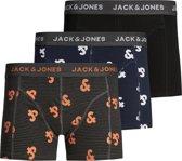 JACK&JONES Heren 3-Pack Boxers - Black