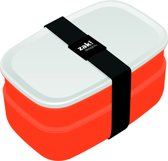 Zak!Designs Lunchbox - Incl. bestekset - Coral-Wit