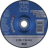 Slijpschijf voor aluminium A24 NSG, haaks gebogen 178-7,2mm Rüggeberg