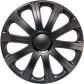 4-Delige J-Tec Wieldoppenset Modena R 16-inch grijs + chroom ring