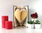 Folded Book Art - Hart - Gevouwen Boek - Handgemaakt cadeau