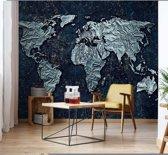 Fotobehang Modern 3D World Map | VEM - 104cm x 70.5cm | 130gr/m2 Vlies