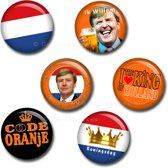 Koningsdag buttons 45 mm