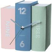 Table clock Book earth tones paper, 20x15x20cm