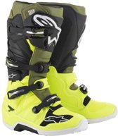 Alpinestars Crosslaarzen Tech 7 Fluor Yellow/Military Green/Black-39 (EU)