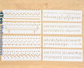 Bullet Journal Plastic Stencils - 8 stuks - Templates Golven - Waves - Sjablonen - 5,5 x 18,3cm - Handlettering toolkit - Knutselen - Decoratie - Accessoires