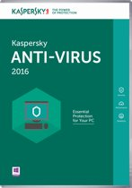Kaspersky Anti-Virus 2016 - Nederlands / Frans / 1 Apparaat / DVD