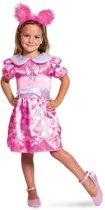 Roze Stippen Jurk - Kinderkostuum - Maat M - 116-134 - 6-8 Jaar