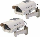 Silverline Solar Dummy Cctv Beveiligingscamera Met Led - 2 Stuks