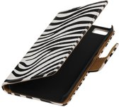 Wiko Lenny 2 Wit | Zebra bookstyle / book case/ wallet case Hoes  | WN™