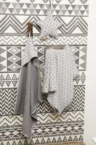 Cottonbaby ledikantdeken gevoerd Driehoek zwart/grijs