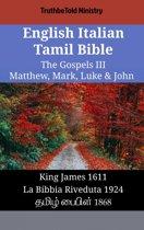 English Italian Tamil Bible - The Gospels III - Matthew, Mark, Luke & John