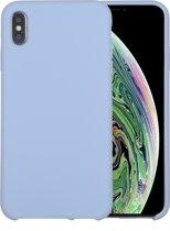 Mobigear Liquid Silicone Blauw iPhone Xs Max