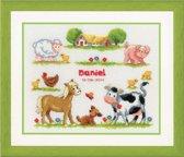 borduurpakket 70.309 boerderij, geboorte