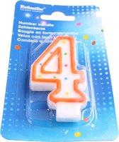 Amscan Verjaardagskaarsje Cijfer 4 Oranje