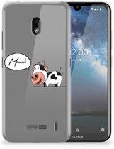 Nokia 2.2 Telefoonhoesje met Naam Cow