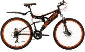 Ks Cycling Fiets 26 inch fully-mountainbike Bliss zwart-oranje - 47 cm