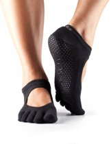 Toesox Bellarina Grip Full Toe Zwart