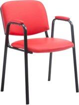 Clp Ken Pro - Bezoekersstoel - Kunstleer - Rood