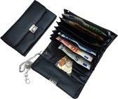 Horeca Taxi portemonnee / koopmansbeurs met ketting zwart kunstleer