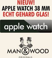Man & Wood Screenprotector / Schermbescherming ECHT GEHARD GLAS (Tempered Glass) - Apple Watch 38 mm
