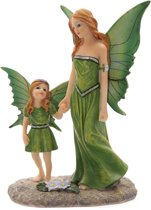 Beeld - Feeën moeder met kind - Tales of Avalon - Fairy Collection - 21 cm