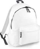 BagBase Backpack Rugzak - 18 l - White/Graphite