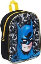 DC Batman - 3D Rugtas - Zwart met blauwe print - Afmeting: Afmeting: 30 x 27,5 x 25 cm (HxBxD)